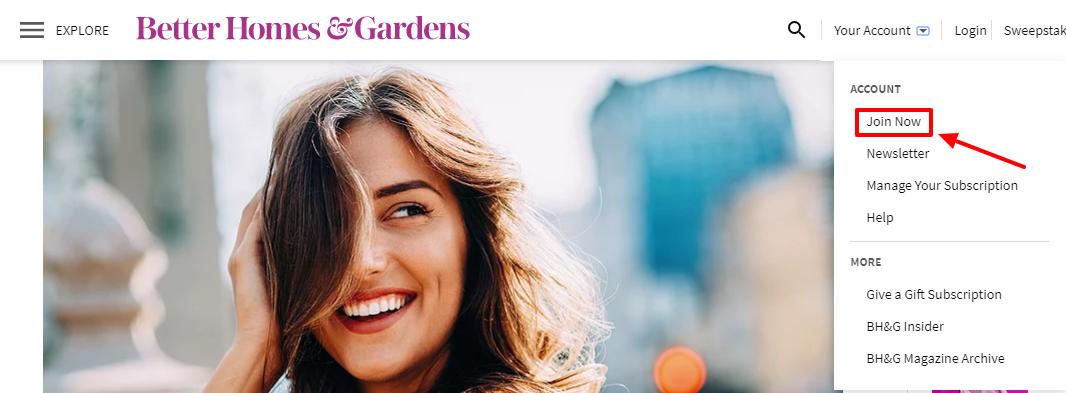 Better Homes and Gardens register