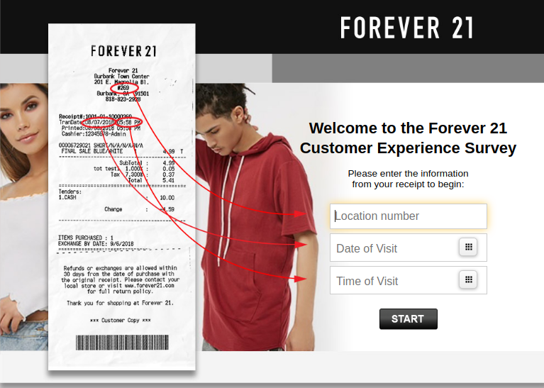 Forever 21 Customer Experience Survey