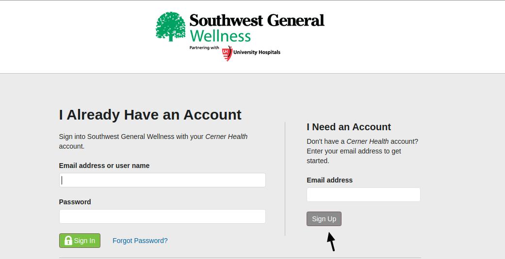 Southwest General Sign Up