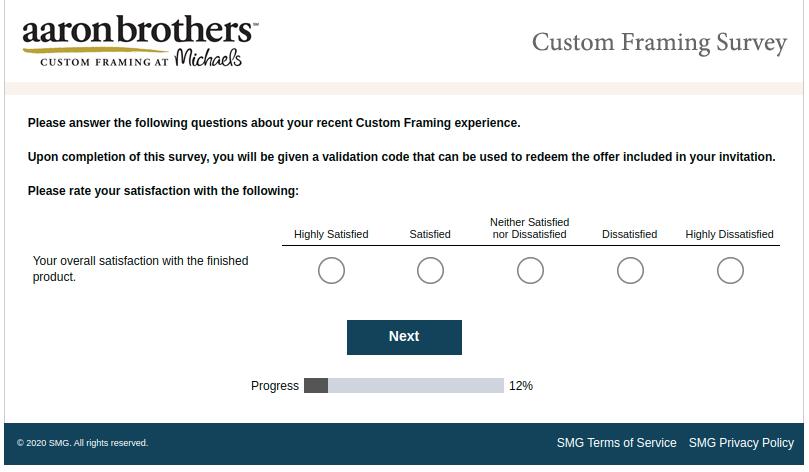 Aaron Brothers Custom Survey