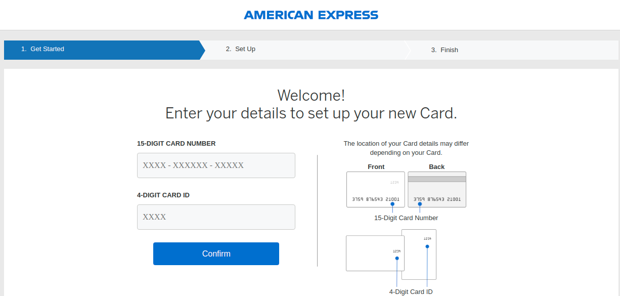 American Express Card Activate