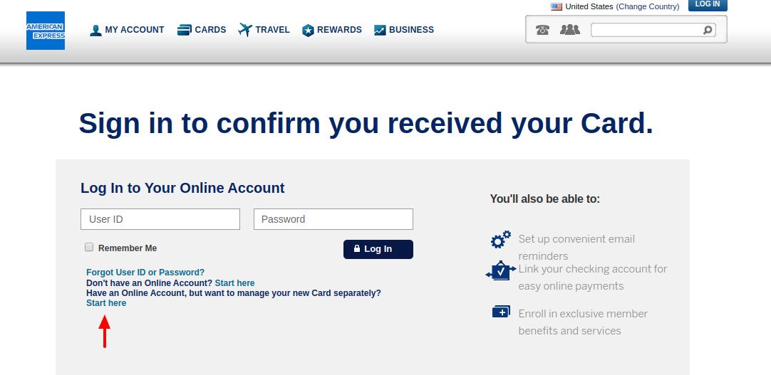 American Express Credit Card Account Create