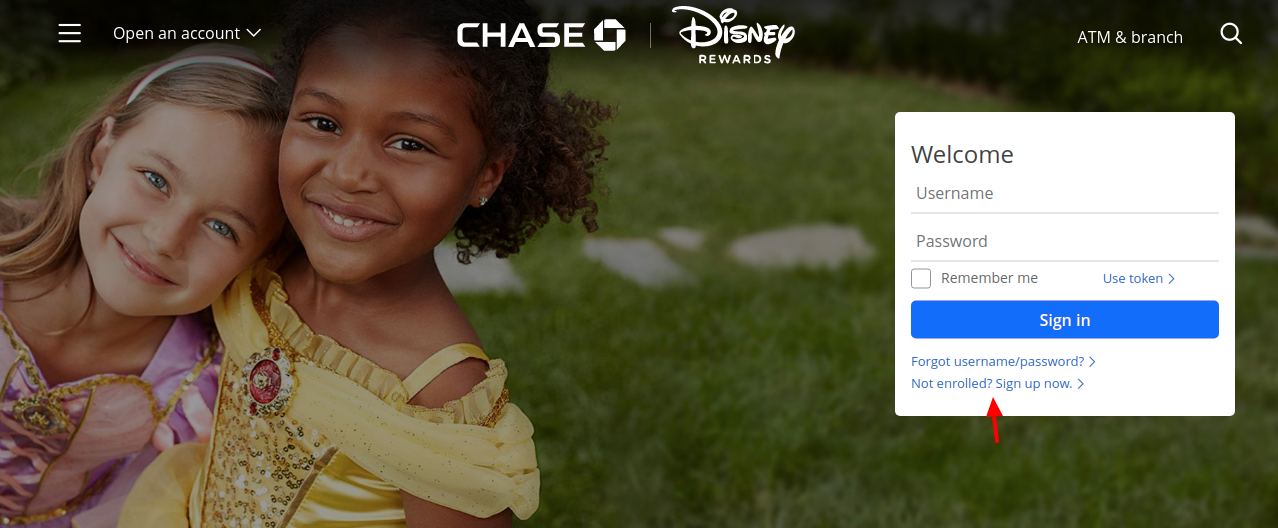 Chase Disney Visa Card Sign Up