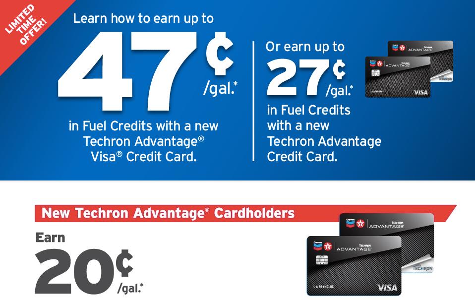 Chevron Texaco Techron Advantage Credit Card Logo
