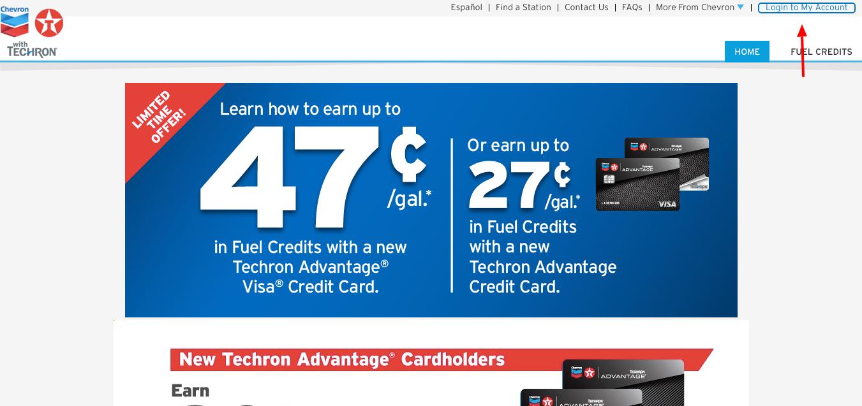 Chevron Texaco Techron Advantage Credit Card login