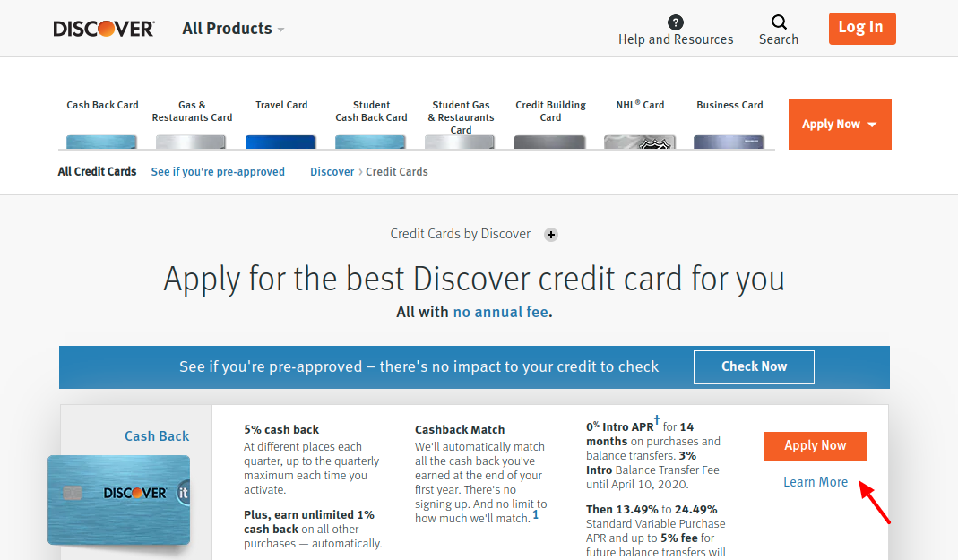 Discover Credit Card Apply