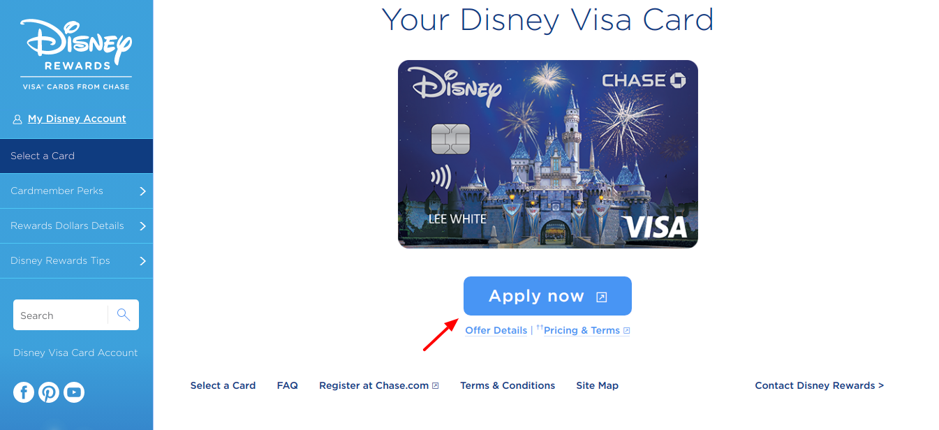 Disney Visa Credit Card Apply