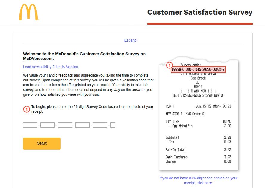 McDonald's Customer Satisfaction Survey