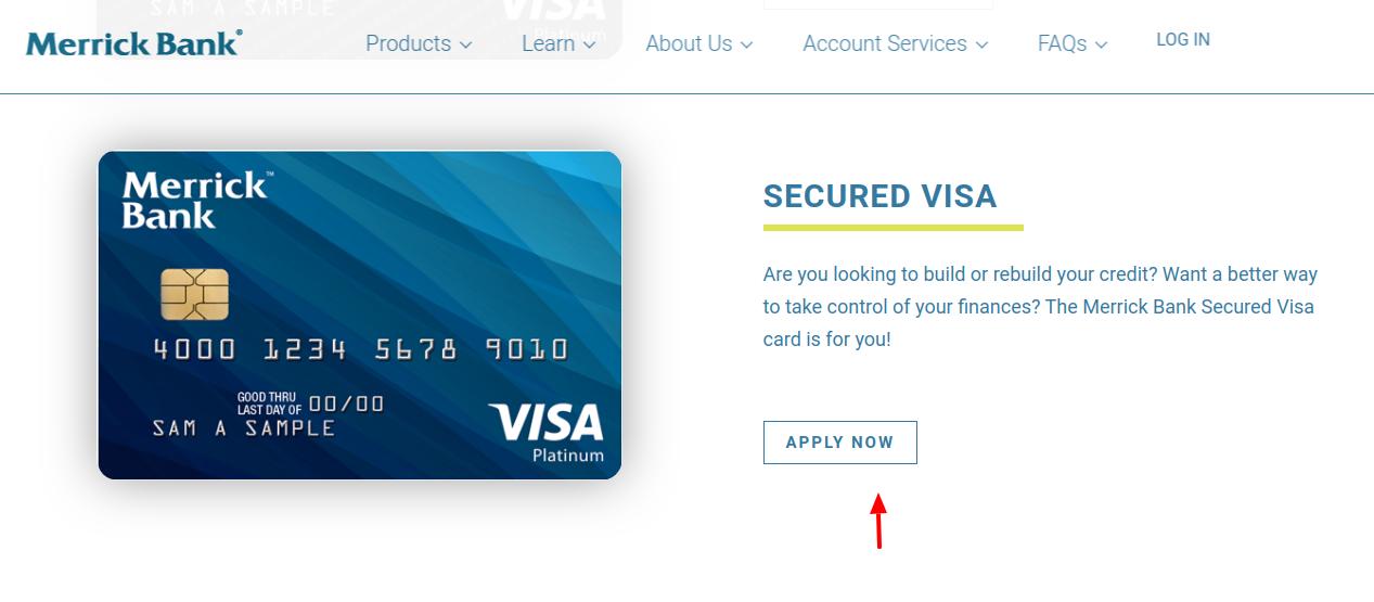 Merrick Bank Secure Visa Apply