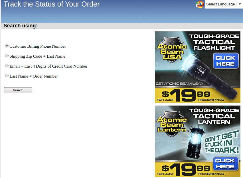 Track Order Status