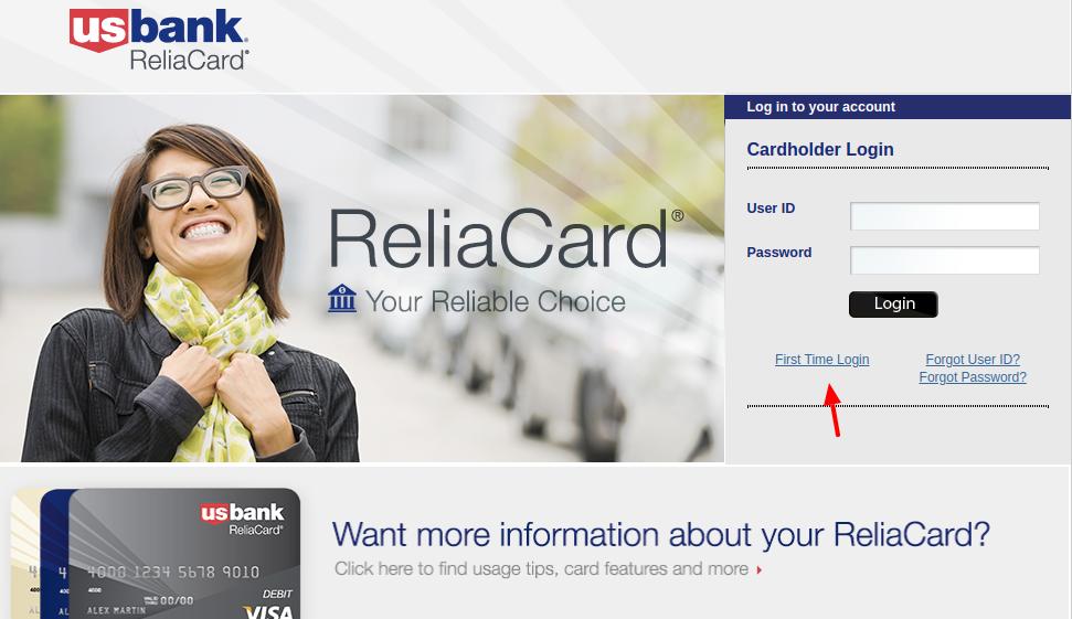 U.S. Bank ReliaCard Set Up