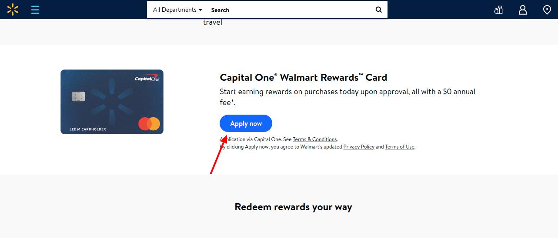 Walmart CapitalOne Credit Card Apply