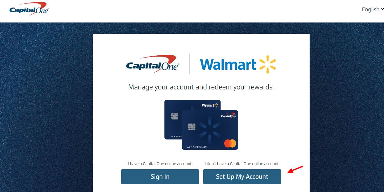 Walmart CapitalOne Credit Card Set Up