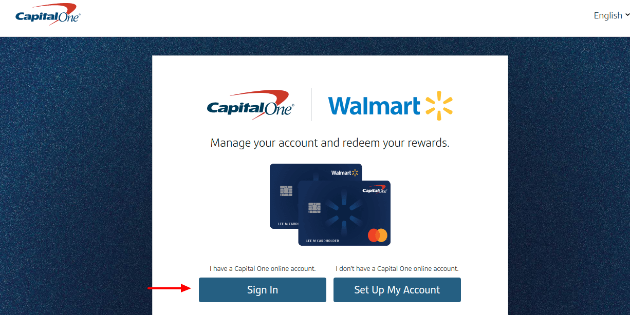 Walmart CapitalOne Credit Card Sign In