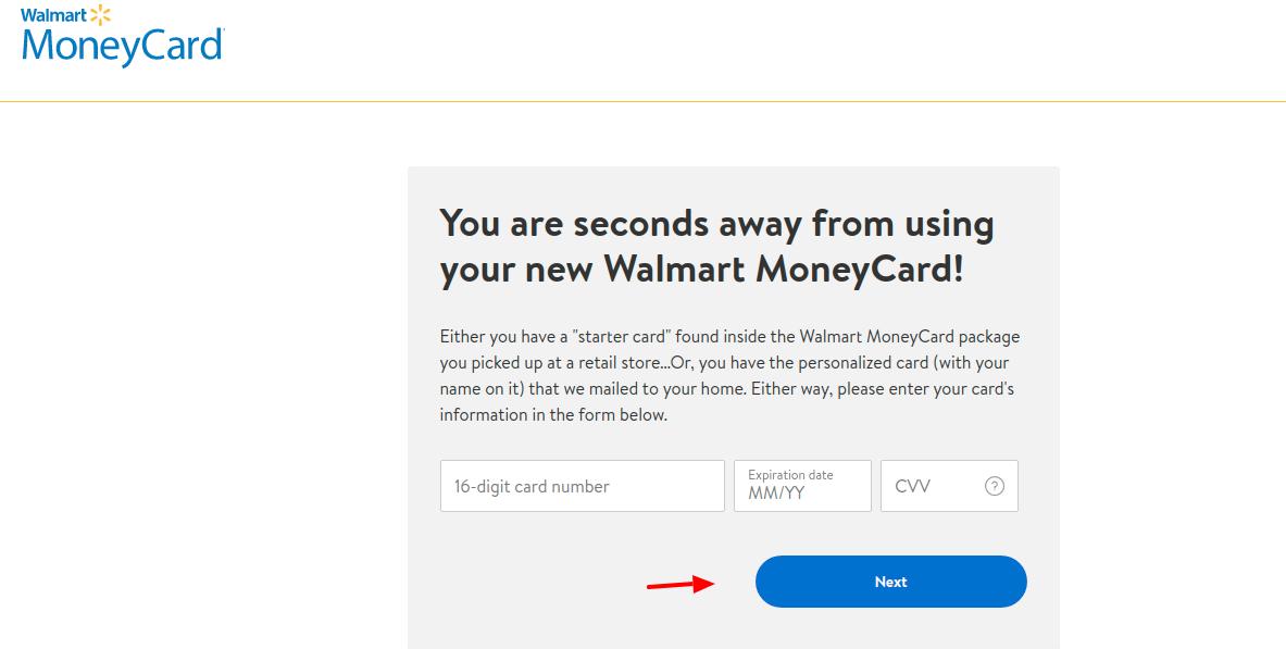 Walmart MoneyCard Activate
