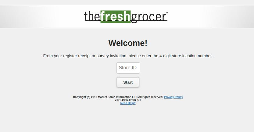 Fresh Grocer Survey