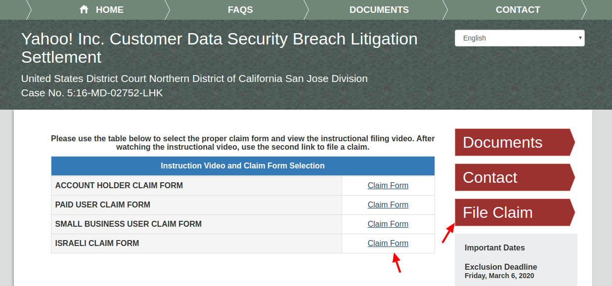 Yahoo Inc Customer Data Security Breach Litigation Settlement