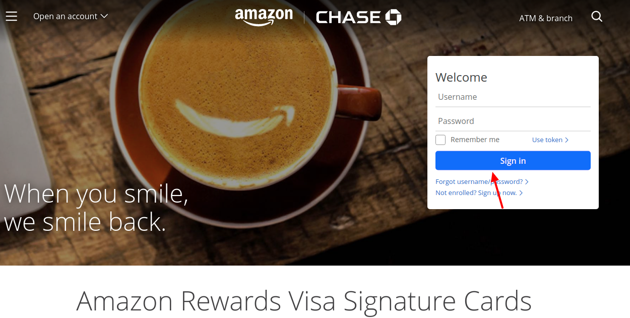 Amazon Rewards Credit Card Login