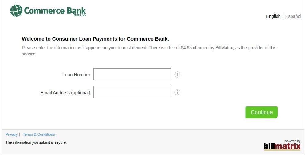 BillMatrix Laon Payment