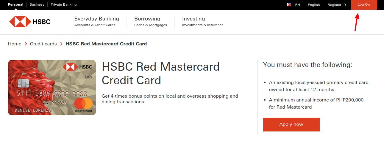 HSBC Red Mastercard Login