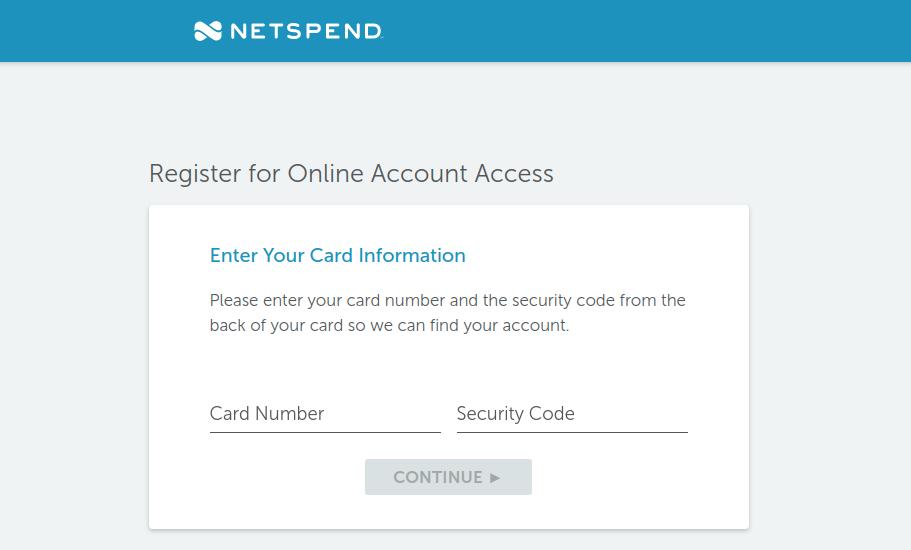 Netspend Prepaid Card Register