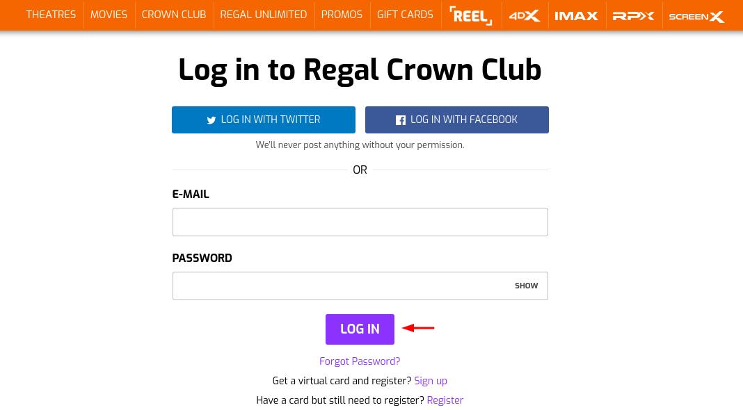 Regal Crown Club Sign In