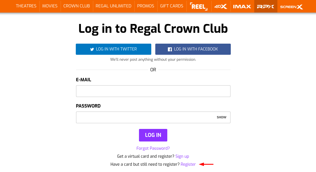 Regal Crown Club Register