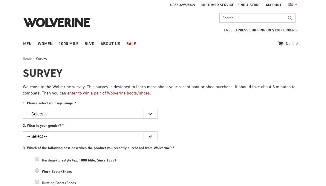 Wolverine Customer Survey