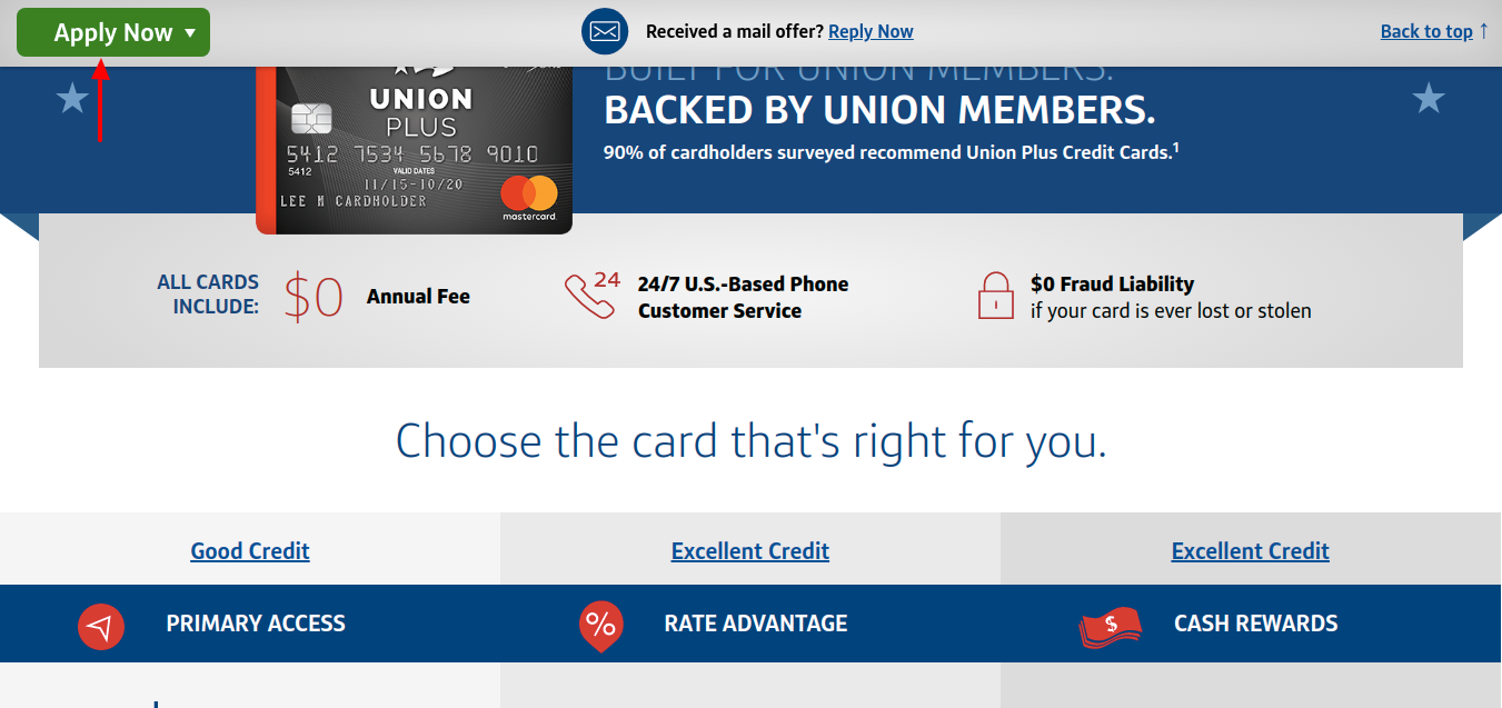 The Union Plus Credit Card Apply Now