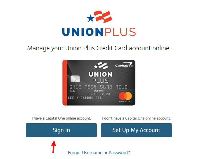 The Union Plus Credit Card Sign In