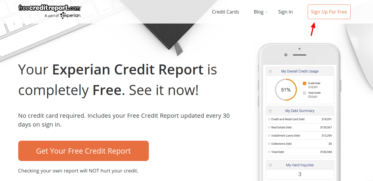 free credit report sign up