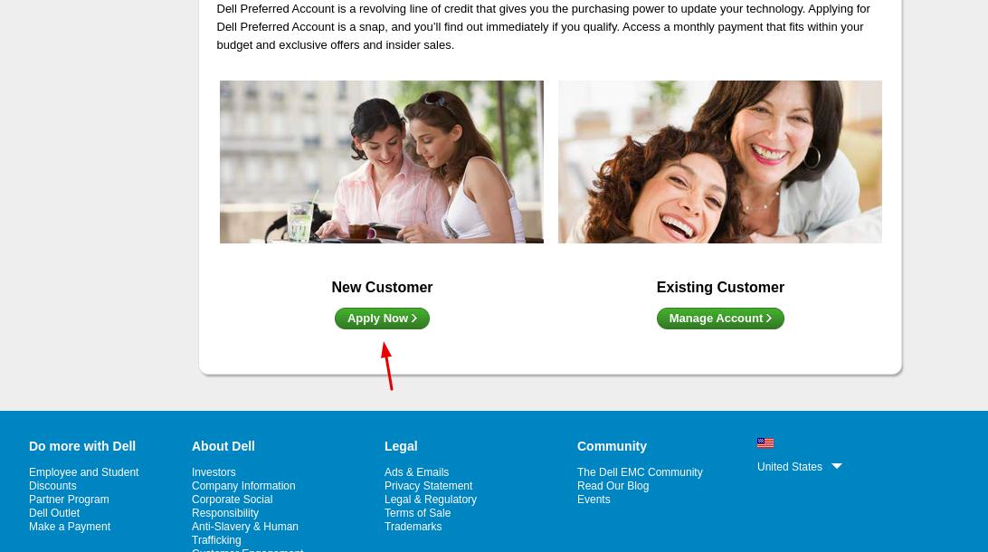 Dell New Customer Apply