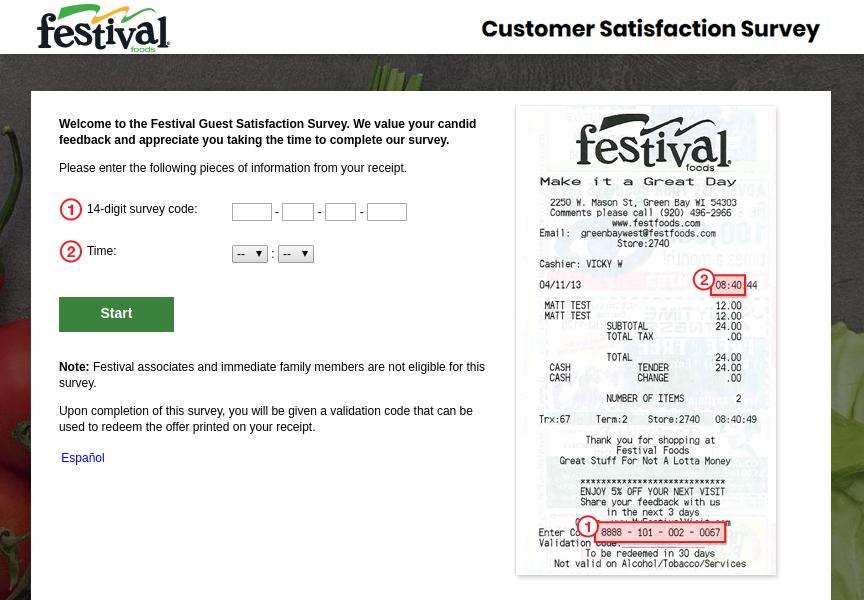 Festival Foods Survey