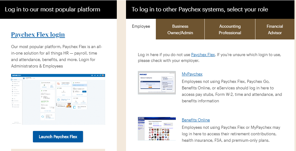 Paychex Flex Employee Login