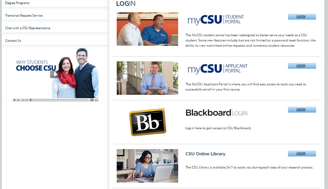 CSU Login Portal