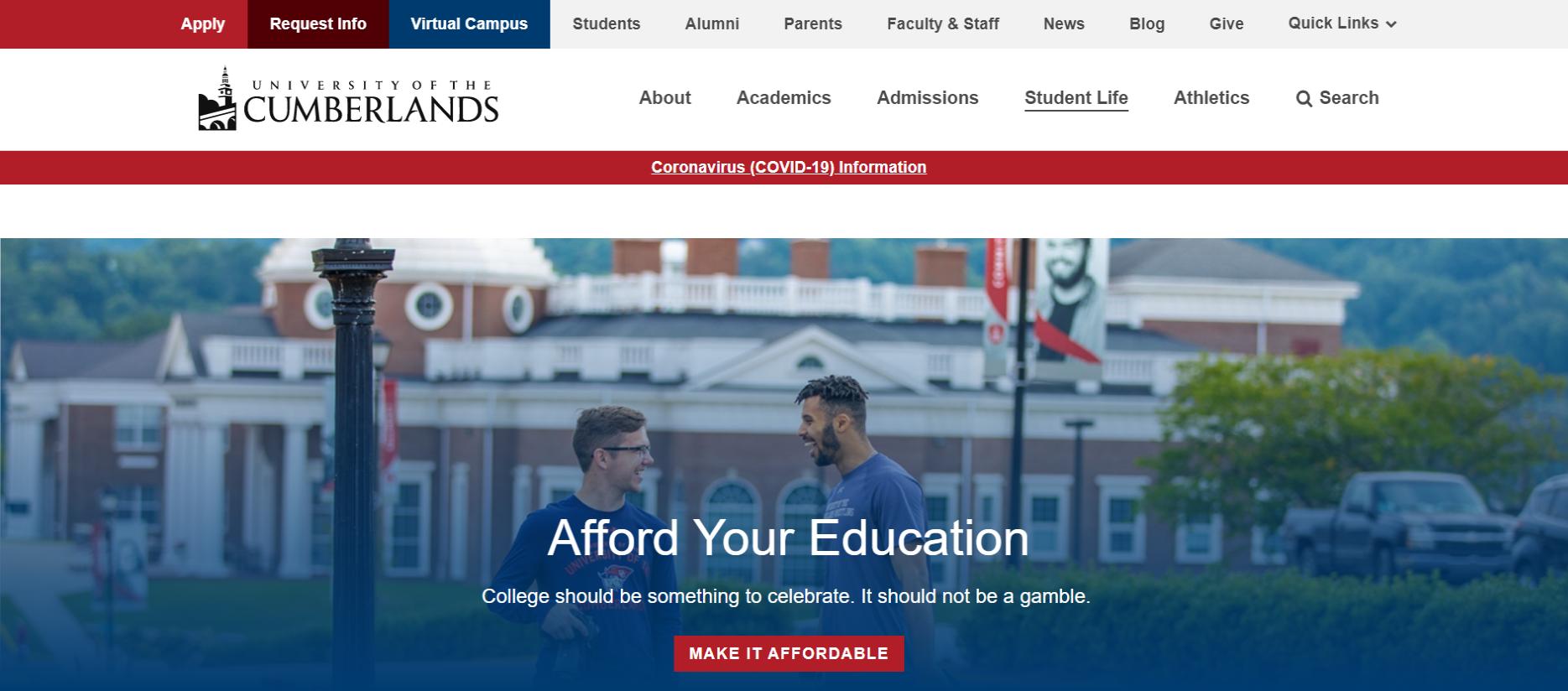 Cumberland university student portal