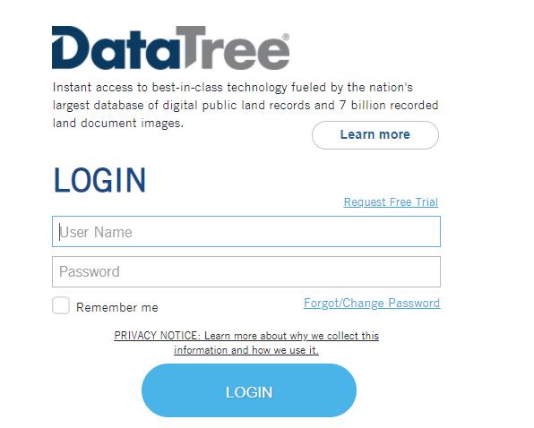 data tree login