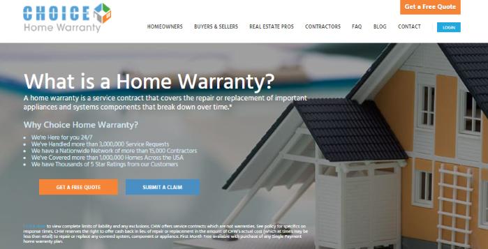 choice home warranty claim
