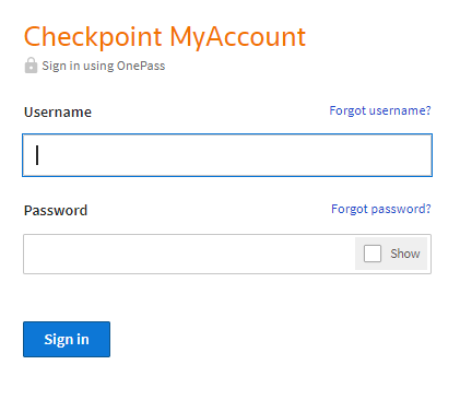 Checkpoint login