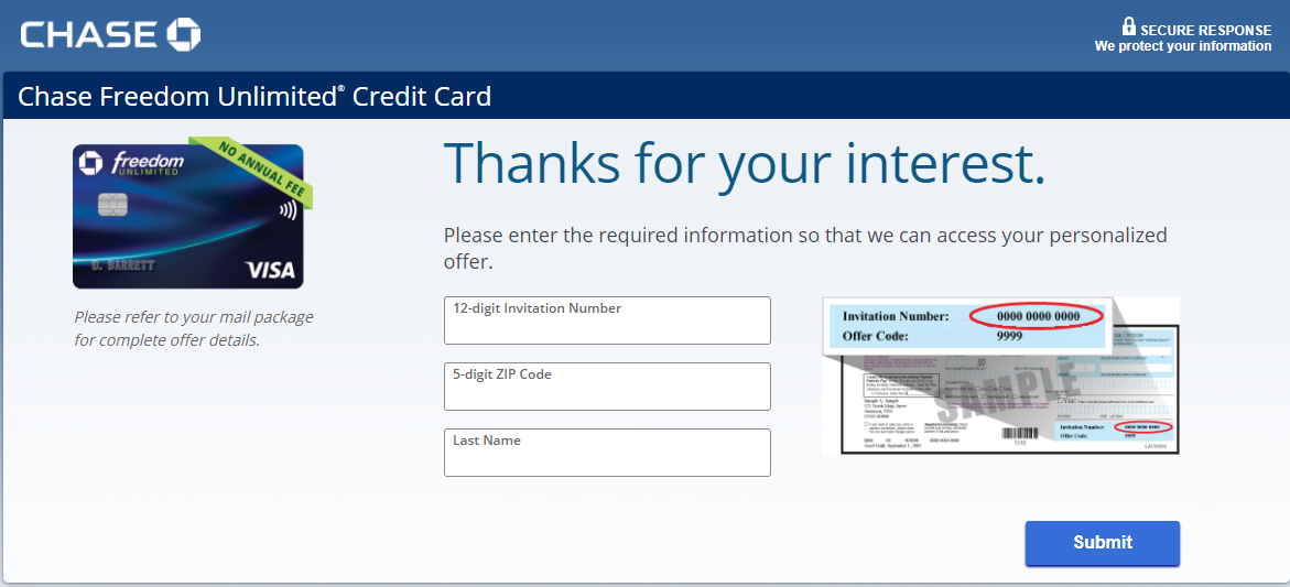 chase freedom card apply